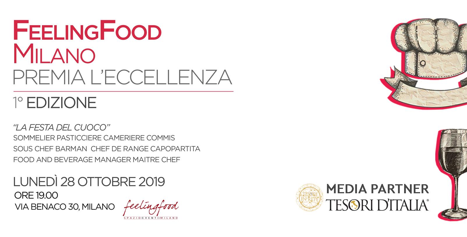 Feeling Food Milano premia l'Eccellenza. Tesori d'Italia accende la Rete.